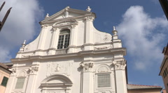 A second  view of the auditorium San Francesco in Chiavari Stock Footage
