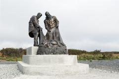 Monument to fishermen, or monument to Fisherman's glory. Kamchatka Peninsula Stock Photos