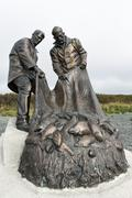 Monument to Fisherman's glory, or monument to fishermen. Kamchatka - stock photo