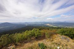 view from the Hochwald - stock photo