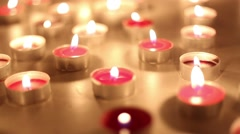 small candles on the table - stock footage