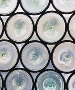 Circular leaded window panes - stock photo
