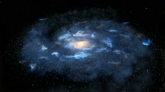 Rotating galaxy loopable Stock Footage