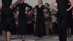 young and old flamenco dancers and drummer beat rhythm 4K - stock footage
