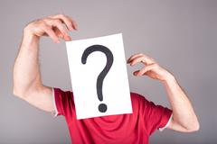 Concept of questioning - stock photo