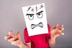 Concept of anger Stock Photos