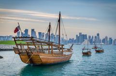 Qatar traditional boat, Dhow Kuvituskuvat