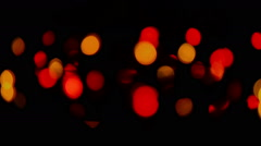 Christmas and new year decoration. Abstract blurred bokeh blinking garland - stock footage