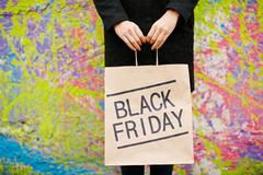 Black Friday paperbag Stock Photos
