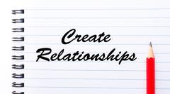 Create Relationships - stock photo