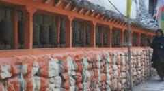 Kagbeni, Mustang, Nepal Stock Footage
