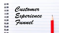 Customer Experience Funnel - stock photo