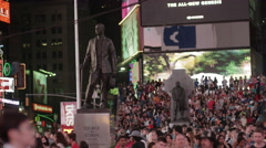 George M. Cohan Statue in Times Square 2015 - stock footage