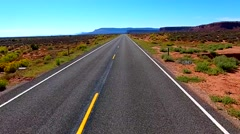 Stock Video Footage of Empty Road Aerial Utah USA