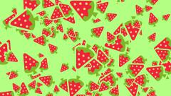Strawberry drop seamless loop with Pastel Color Style. Stock Footage