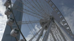 The Hong Kong Observation Wheel. Tilting shot. Flat picture profile Stock Footage