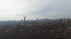 Kiev Aerial panorama Stock Footage