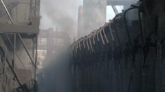 Smoke on coke oven battery - stock footage