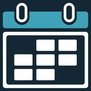 Month Organizer Icon Stock Illustration