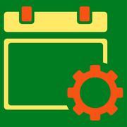 Calendar Adjustment Icon - stock illustration