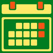 Month Organizer Icon - stock illustration