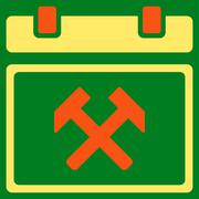 Working Organizer Day Icon - stock illustration