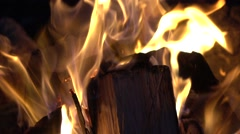 Campfire Slow Motion HD Clip. - stock footage