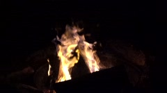 Outdoor campfire  Slow Motion. Stock Footage