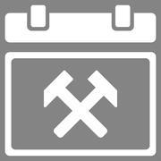 Working Organizer Date Icon - stock illustration