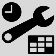 Date And Time Setup Icon Stock Illustration