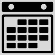 Month Organizer Icon - stock illustration