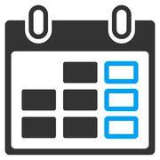Stock Illustration of Organizer Week Icon