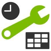 Date And Time Setup Icon - stock illustration