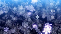 Snowflakes falling video background - Snowflakes 102 HD, 4K Stock Footage
