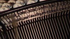 Typing on vintage typewriter (1930s-1960s) Stock Footage