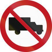 New Zealand road sign - No Trucks Piirros