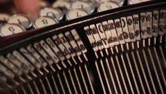 Typing on vintage typewriter (1930s-1960s) Stock Footage
