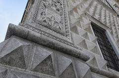 Corner of the Palace of diamonds - stock photo