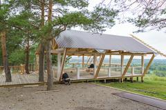 Installation of veranda Stock Photos