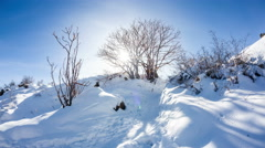 Winter mountain scenery timelapse Stock Footage