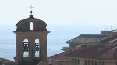 A bell tower of a church Stock Footage