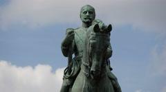 Marshall Ferdinand Foch statue in Paris Stock Footage