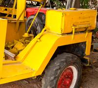 Yellow tractor Stock Photos