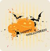 striped Halloween background - stock illustration