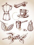 Vintage coffee Stock Illustration