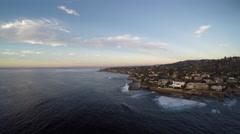 4K AERIAL: Beautiful Southern California Coastline Landscape Background Stock Footage