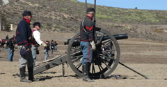 Blue & Grey Civil War Re-enactment Cannon Fire Arkistovideo