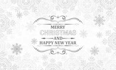 Christmas snowflakes vector background. - stock illustration
