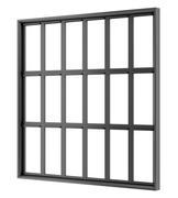 black metallic window isolated on white background - stock illustration