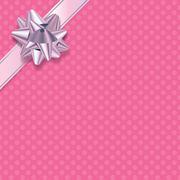 Stock Illustration of Pink Polka Dot Present Background